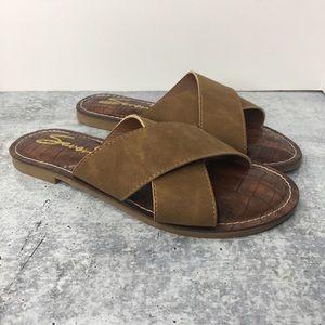 Seven7 Jesse Slide Sandal Flat Size 8/39